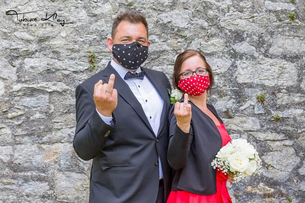Corona Hochzeit in Mössingen